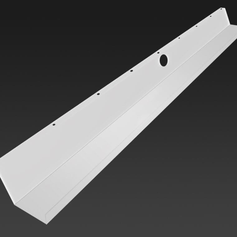 Kabelbakke 115 cm hvid