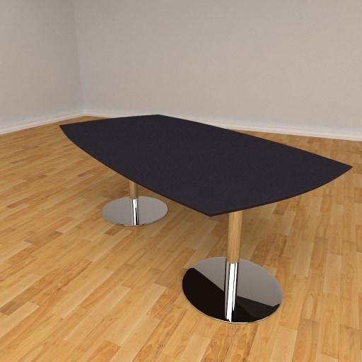Fazet mødebord – 8 personers