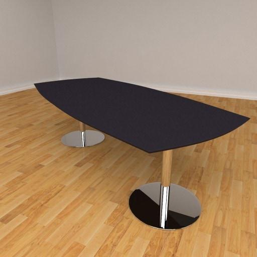 Fazet mødebord – 10 personers