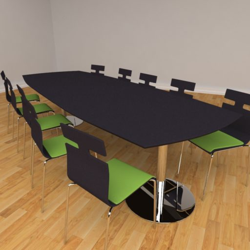 Fazet mødebord - 10 personer