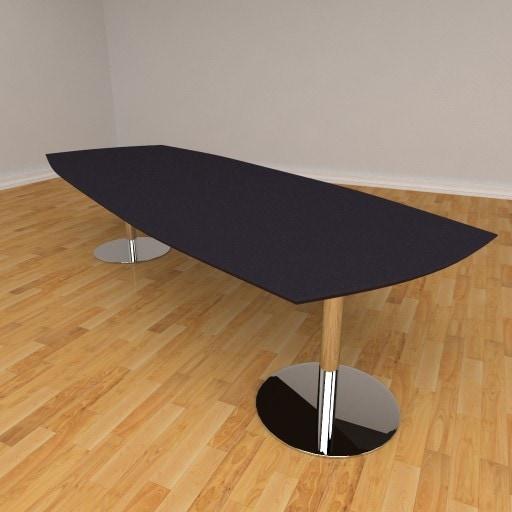 Fazet mødebord – 12 personers