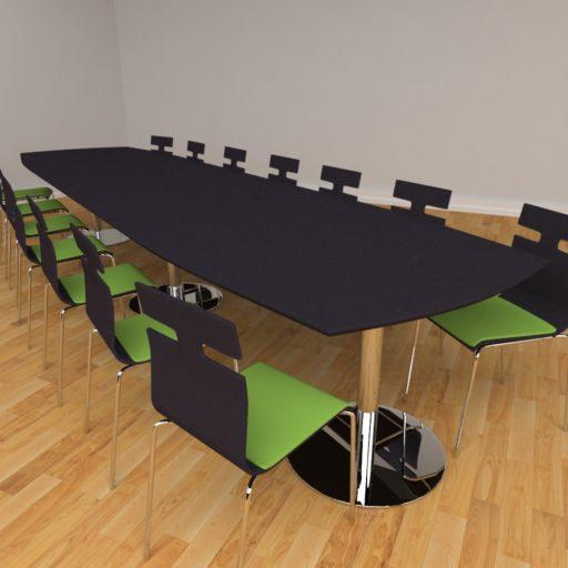 Fazet mødebord - 14 personer