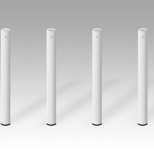 4 hvide bordben