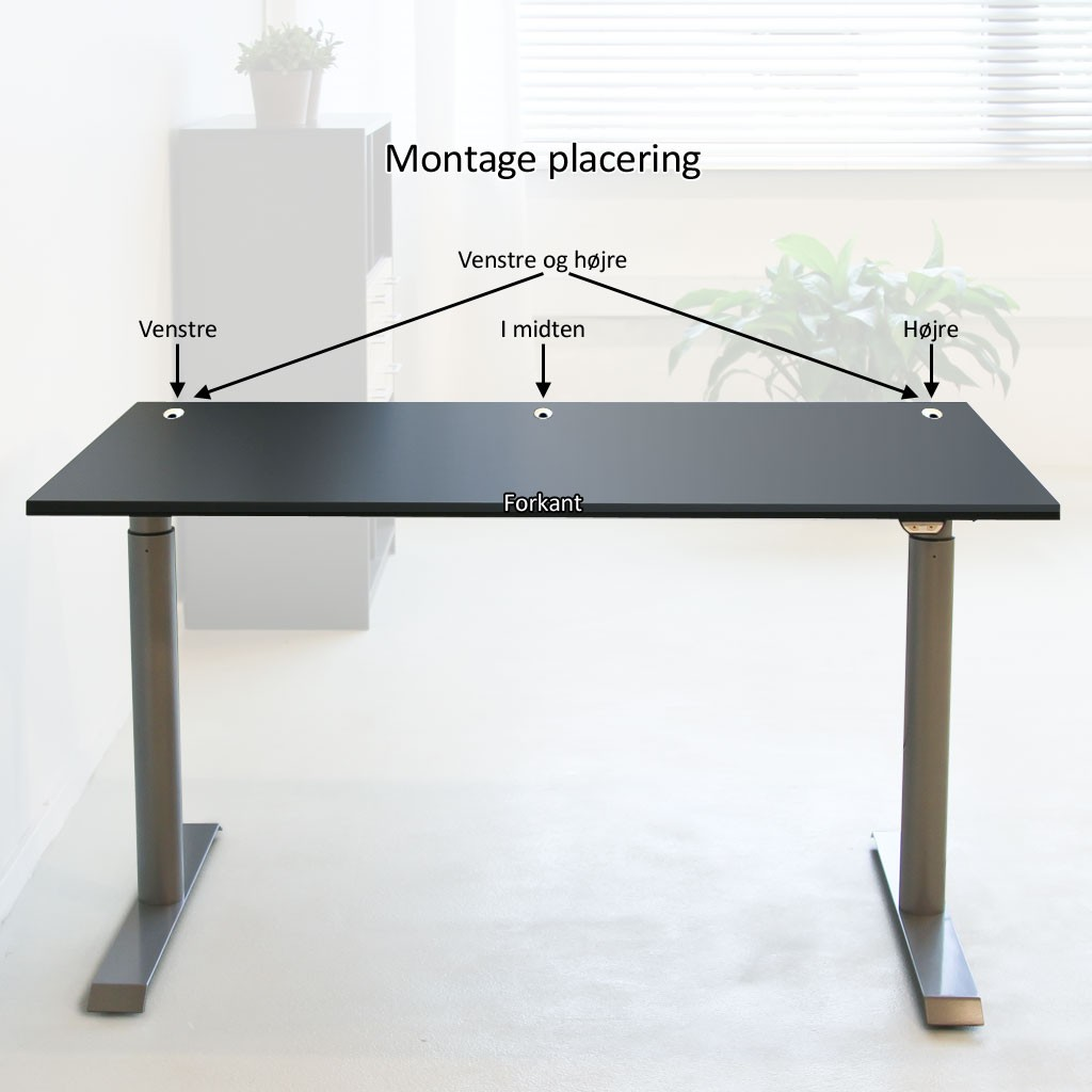Skrivebord - Kabelrosetter