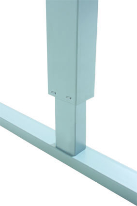 Basic height adjustable table - with grey frame