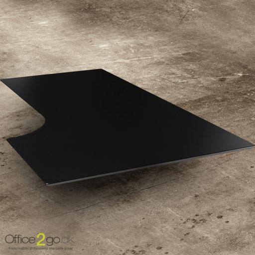 Sort laminat kombi skrivebordsplade