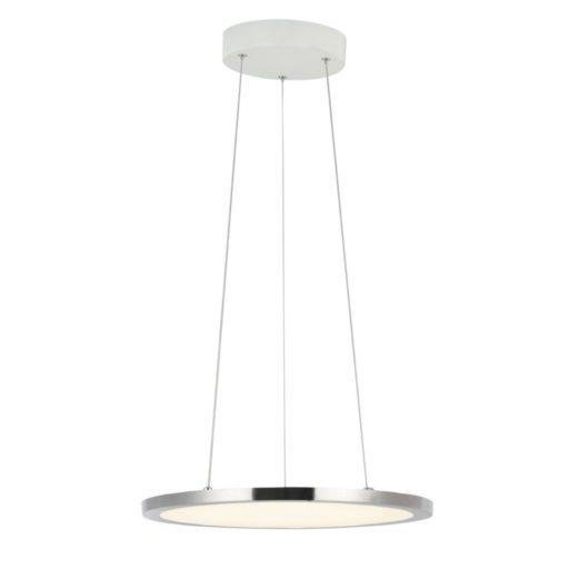 Smooth LED - Ø 400mm. Rund LED loftslampe - perfekt til rundeborde - Lys farve kan reguleres fra bødt lys (2700k) til mere blåt lys (6500k). LED pærer bruger stort set ingen strøm og hoder i gennemsnit 25.000 timer