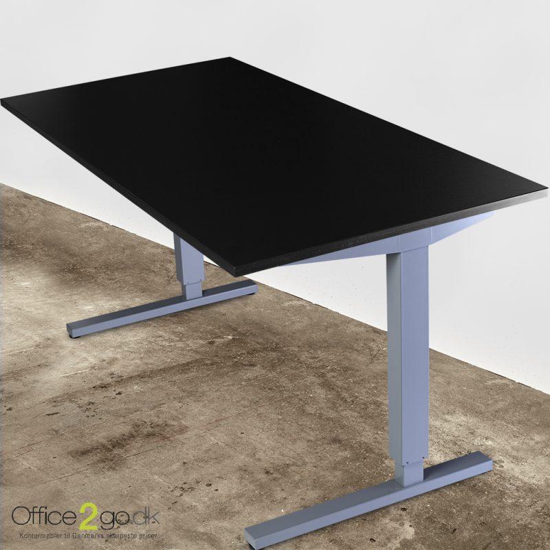 Basic hævesænkebord - med gråt stel
