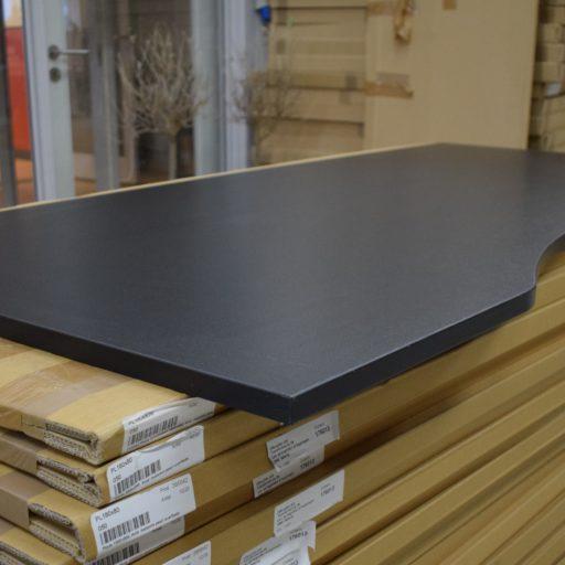 Decor laminat 160x80 cm med bue skrivebordsplade