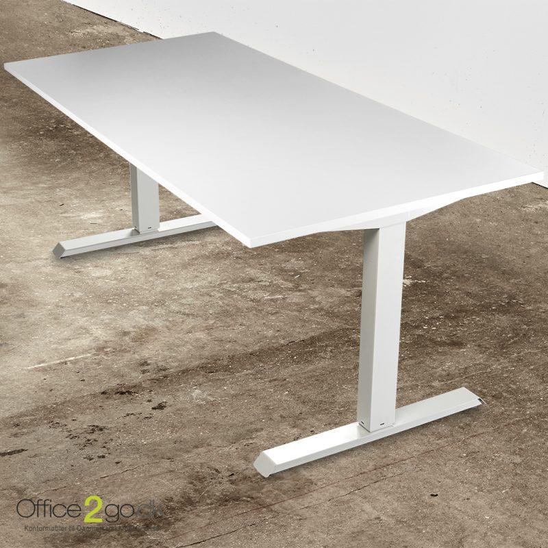 Basic hævesænkebord - med hvidt stel