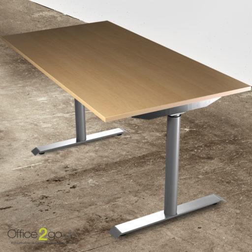 Jazz hævesænkebord - med gråt stel