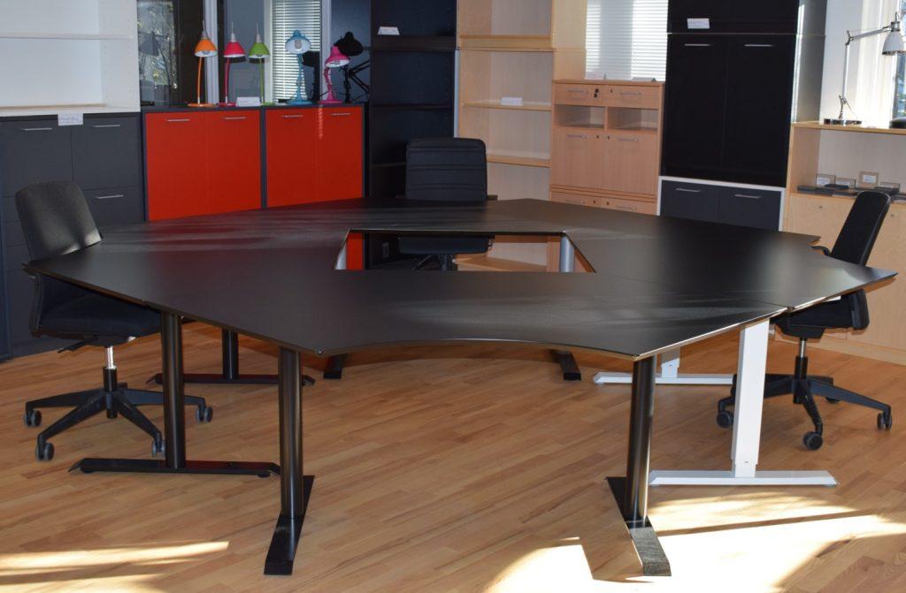 10 stk - Sort Laminat skrivebordsplade special - SPAR 88%