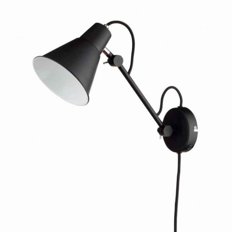 Space kort sort væglampe