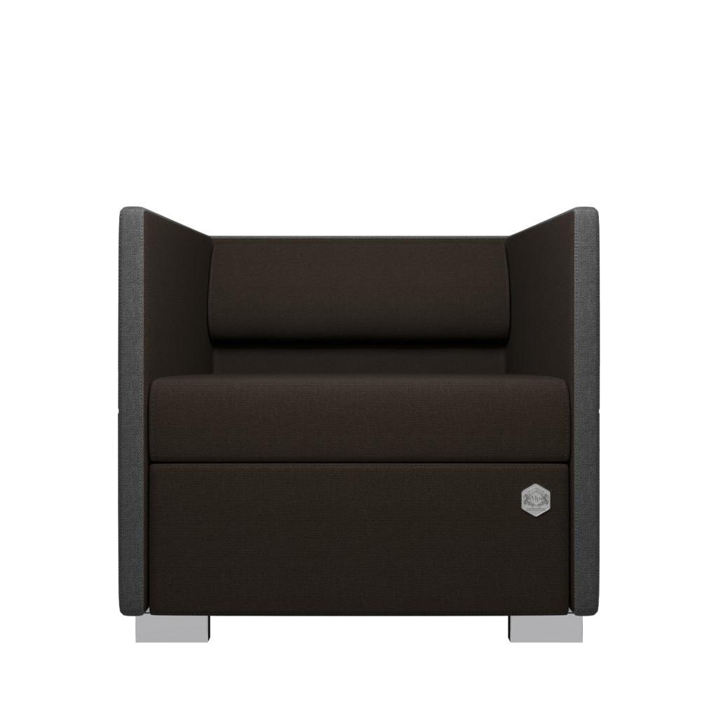 Lounge 1 - grå - chokolade