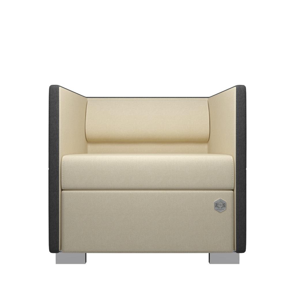 Lounge 1 - grå - creme