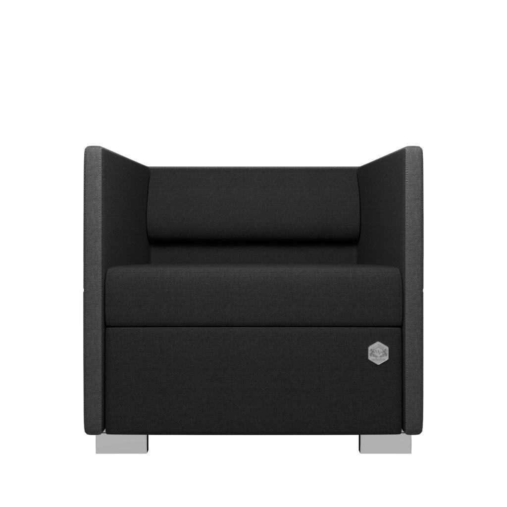 Lounge 1 - grå - sort