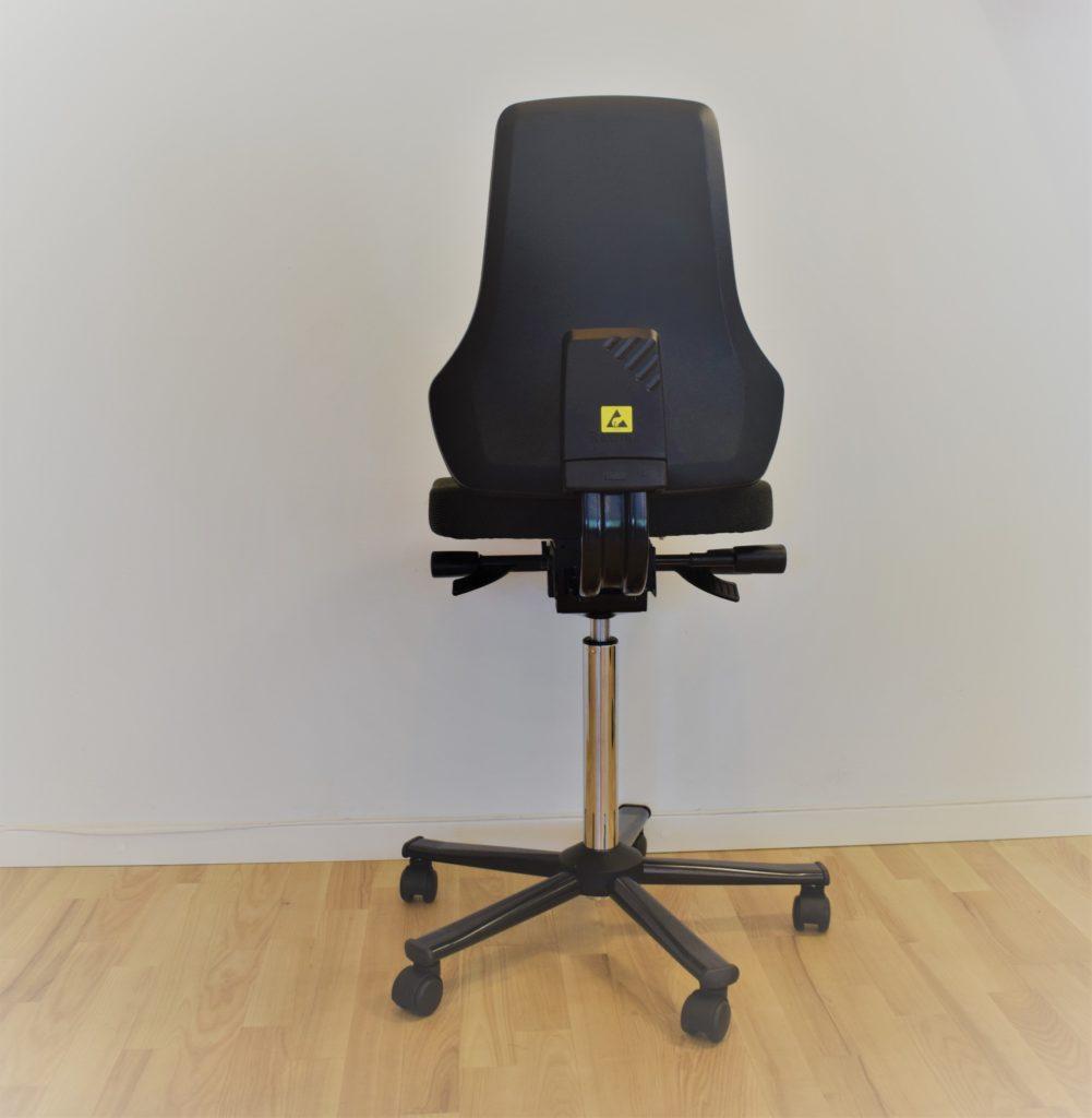 Interstuhl BIMOS HØJ kontorstol sort stof - udstillingsmodel.