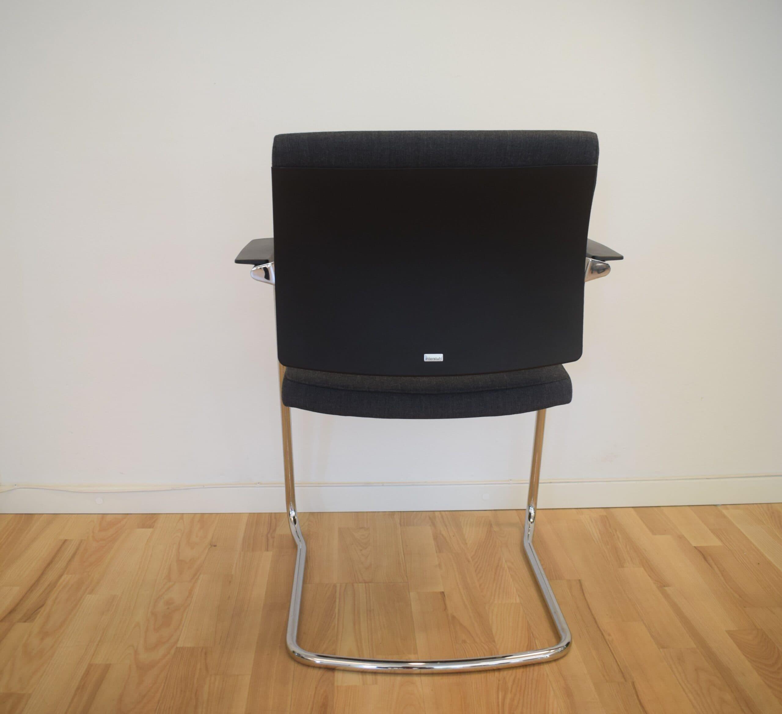 Yoster mødebordsstol - krom stel.