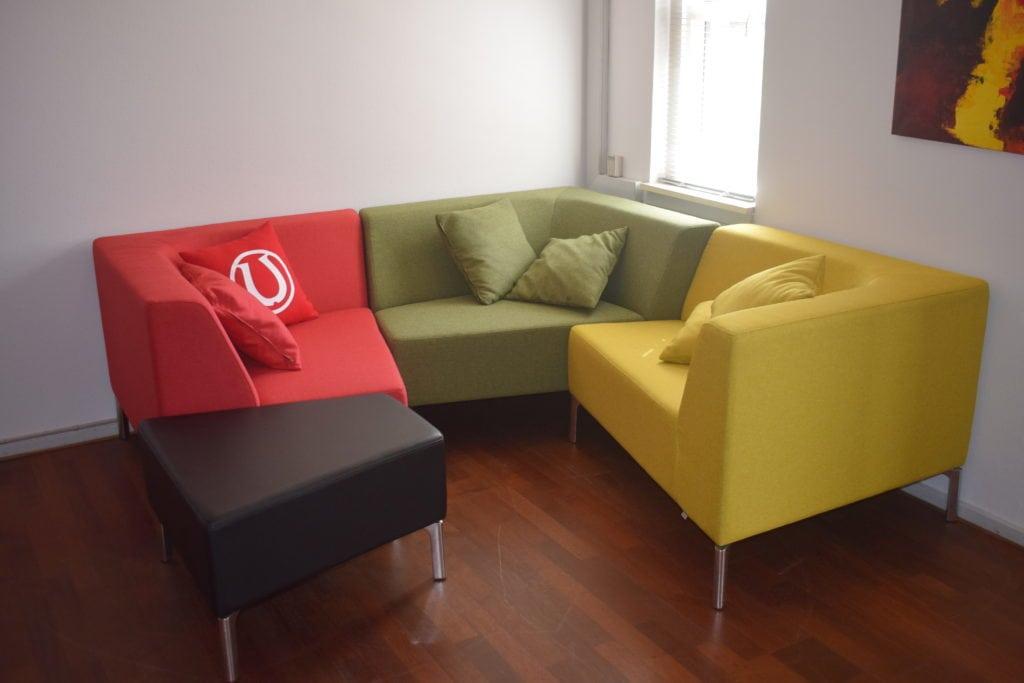 Interstuhl TANGRAM sofa rød - Udstillingsmodel.