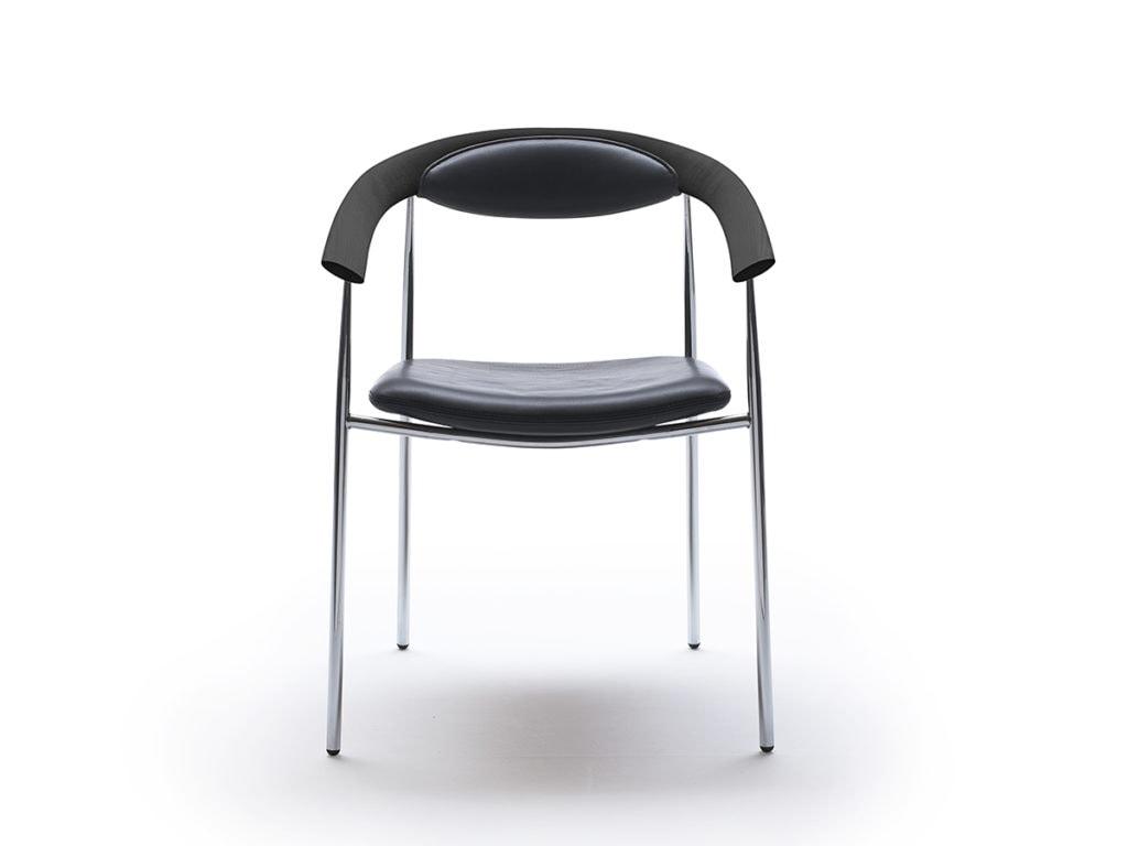 Galla mødebordsstol - krom stel.
