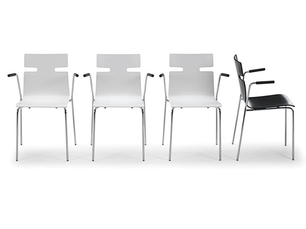 Whisper stol til mødeborde eller kantiner