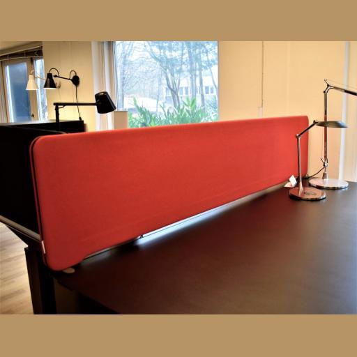 Lintex Topmonteret Skrivebordskærm - 180*40 cm - Udstillingsmodel