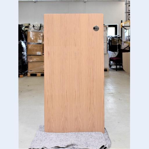 Eg finer skrivebordsplade med krom kabelrossette - 160*80 cm