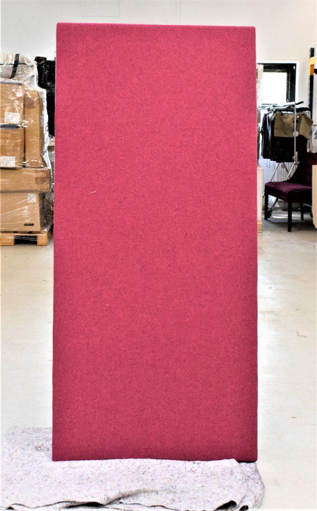 8 stk - Modus fleksibel akustisk skrivebordskærm - 160*74 cm. - Lyseblå/Rød - SPAR 84%