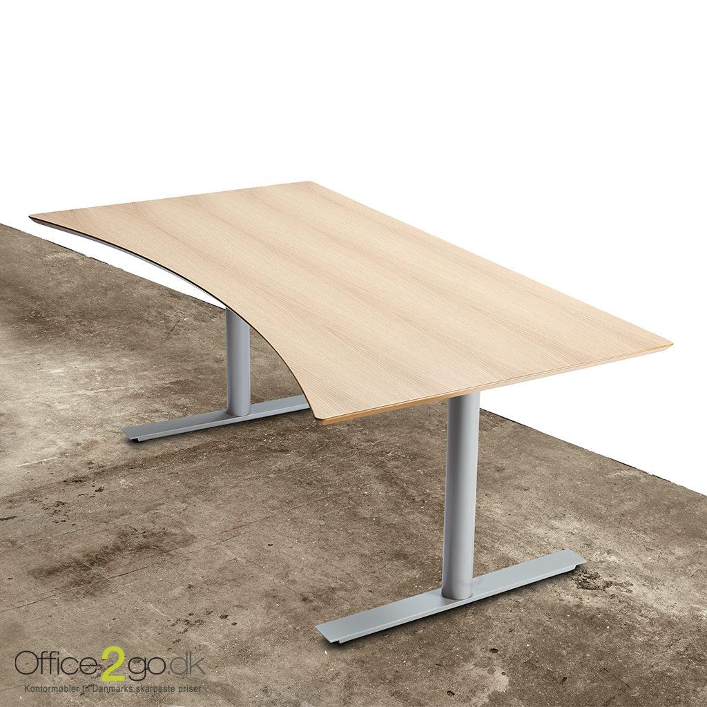 InLine hævesænkebord med gråt stel