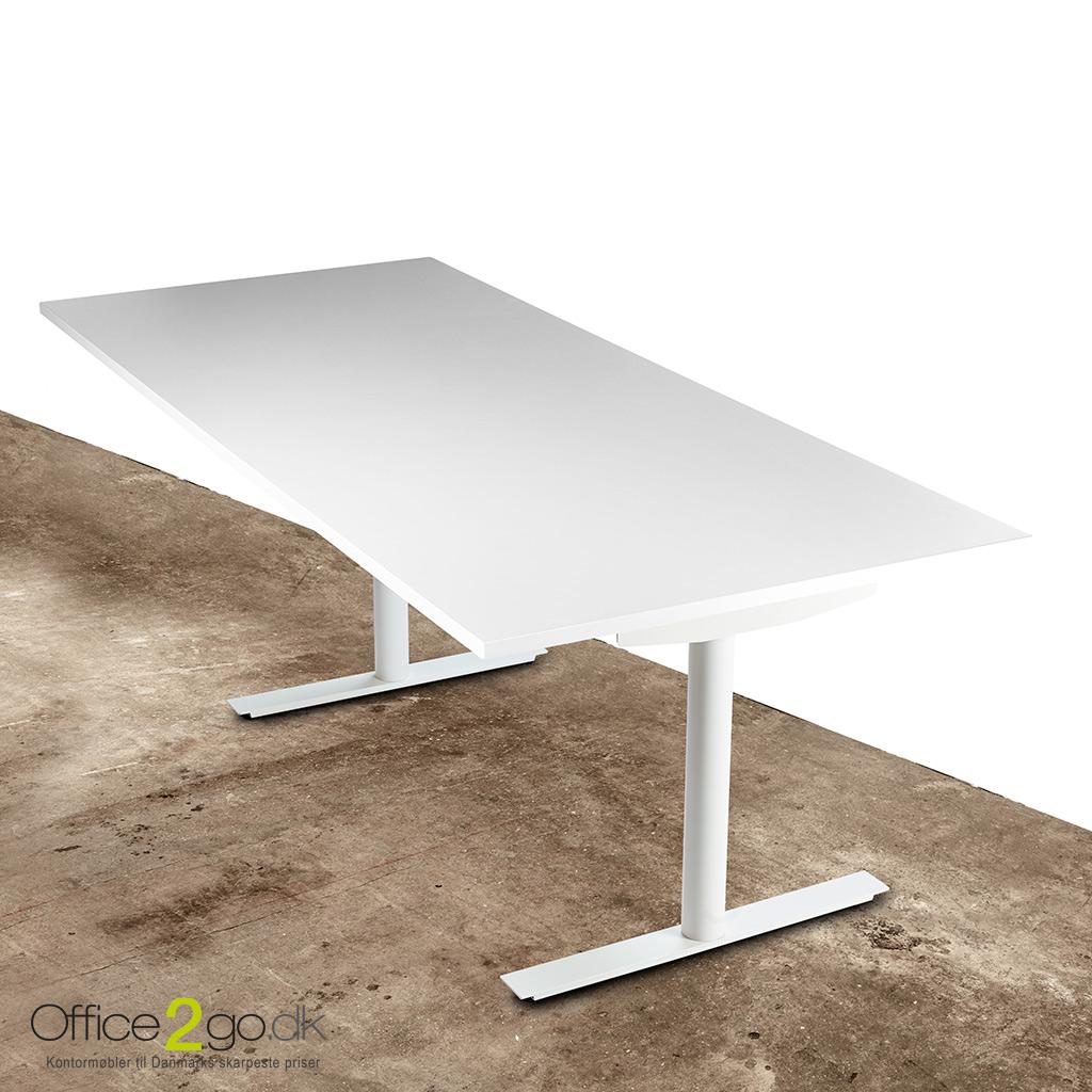 Image of   InLine hævesænkebord - med hvidt stel