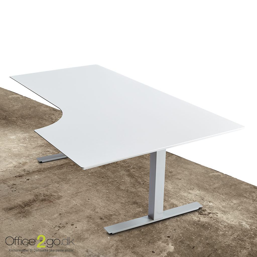Square hævesænkebord - med gråt stel
