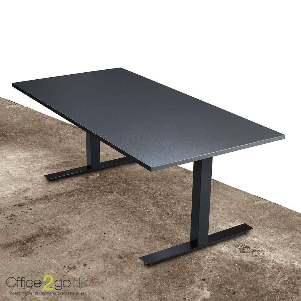 Square hævesænkebord - med sort stel