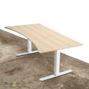 Square hævesænkebord - med hvidt stel