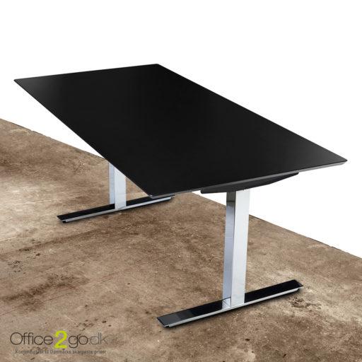 Square hævesænkebord - med krom stel