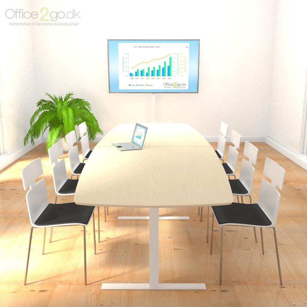 Square mødebord - 6-8 personer - 280 cm.
