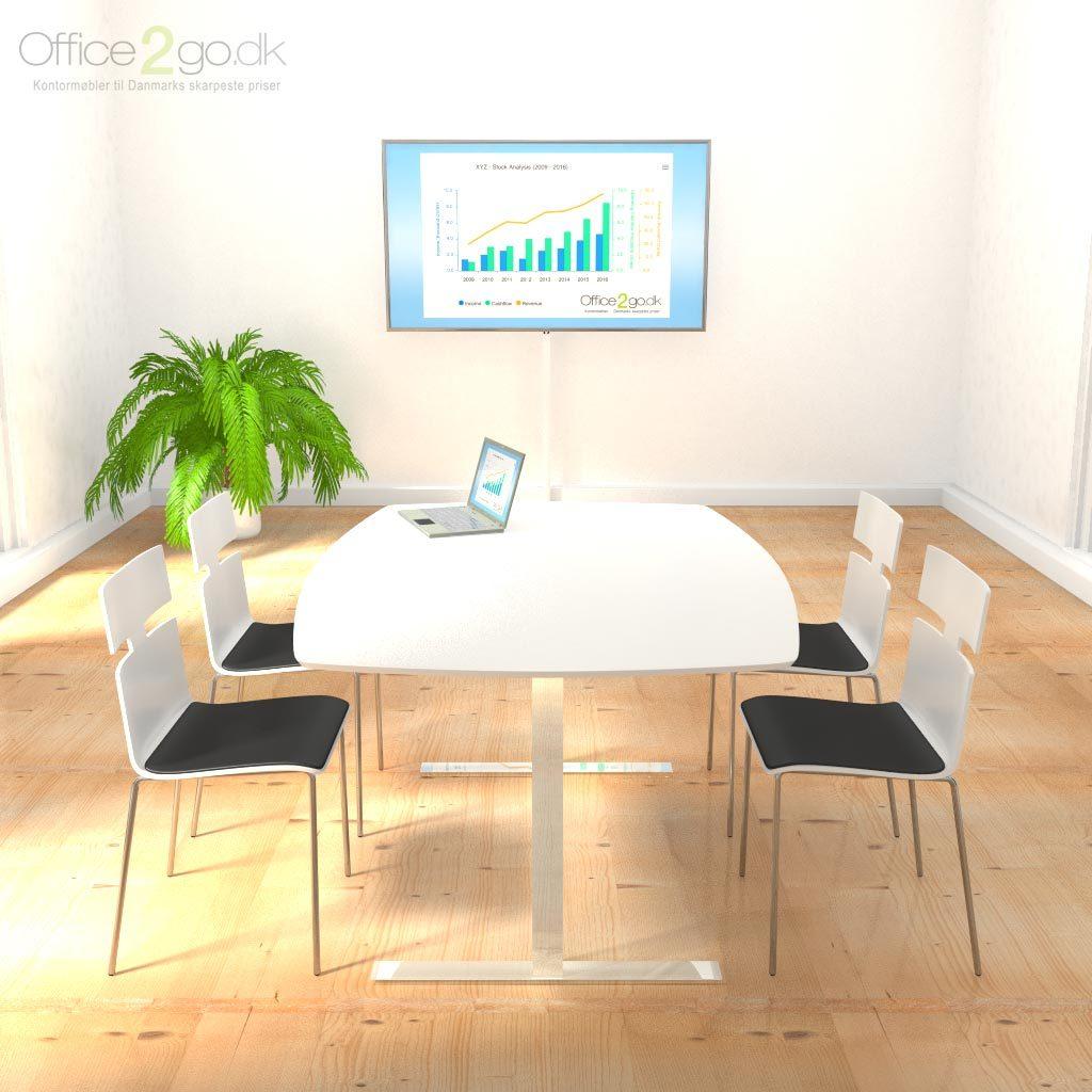 Square mødebord - 4-6 personer - 160 cm.