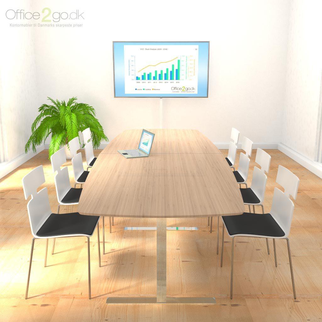 Square mødebord - 8-10 personer - 280 cm.