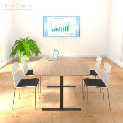 Square mødebord - 4-6 personer - 180 cm.