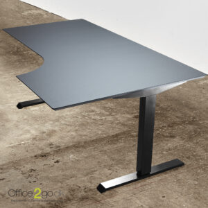 Basic hævesænkebord – med sort stel