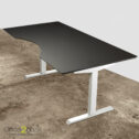 Basic hævesænkebord – med hvidt stel