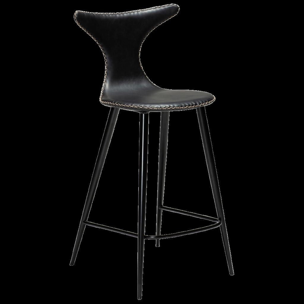Dolphin højstol med sorte ben