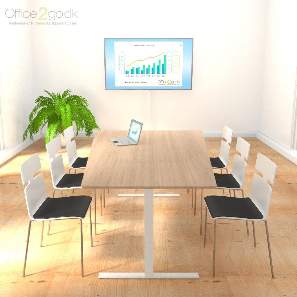 Square Media mødebord - 4-6 personer - 160 cm.
