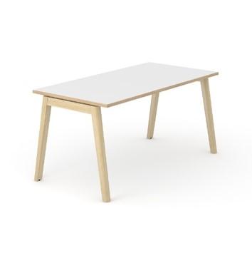 Nova skrivebord - trapez ben i træ