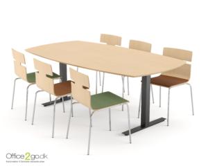 Square mødebord - 6-8 personer - 200 cm.