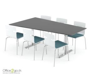Inline Media mødebord - 6 personer - 200 cm.