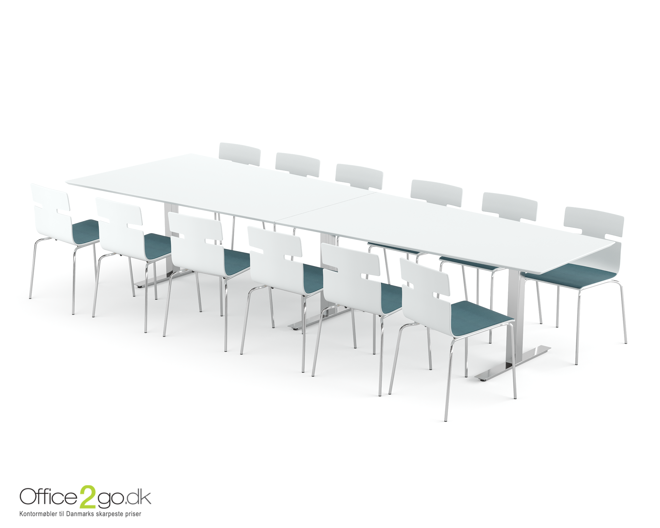 Square Media mødebord - 12 personer - 360 cm.