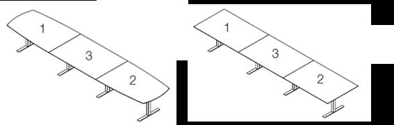 Inline mødebord 4 plader