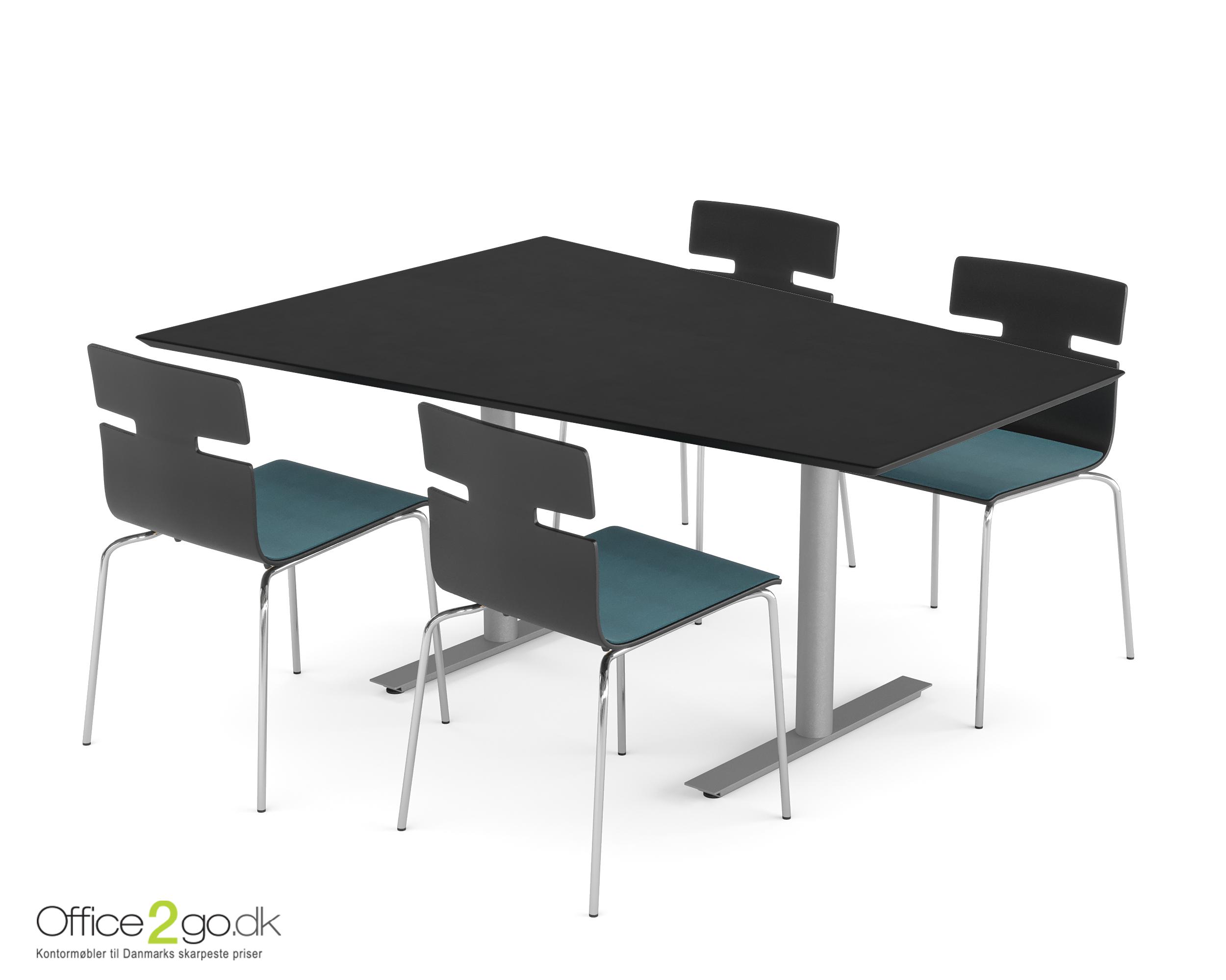 Inline Media mødebord - 4 personer - 160 cm.