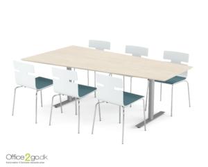 Inline Media mødebord - 6 personer - 220 cm.