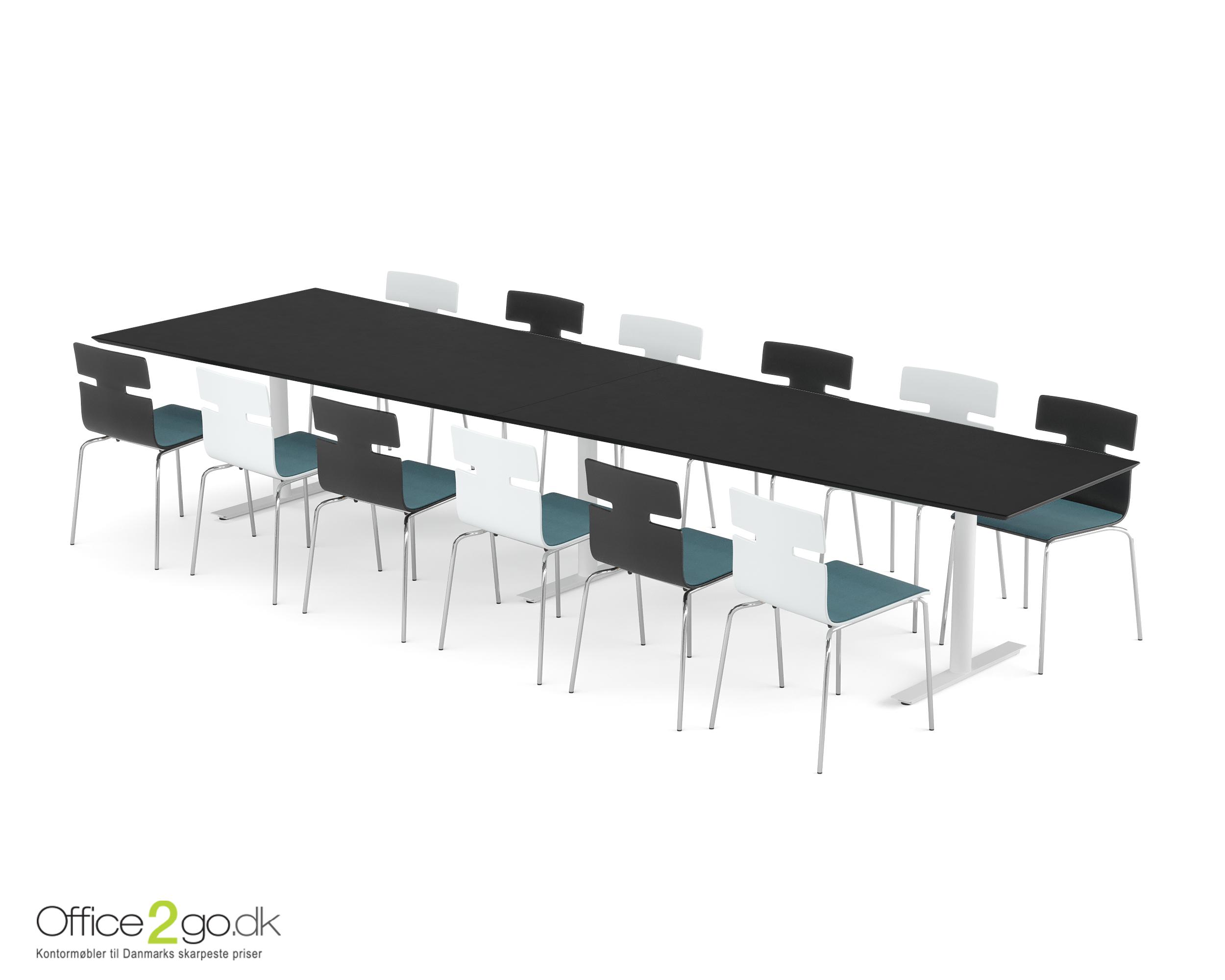 Inline Media mødebord - 12 personer - 400 cm.